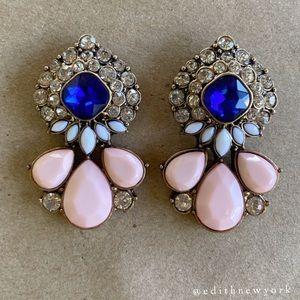 VTG Blush Pink Blue Sapphire Earrings